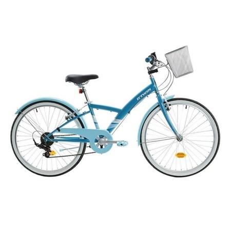 BTWIN - Unique Size  Kids' 24 Hybrid Bike 9-12 Years Original 500, Teal Green