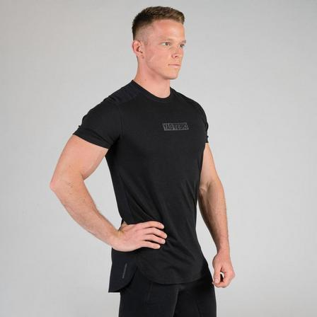 DOMYOS - Extra Large  Weight Training Chest Day T-Shirt, Black