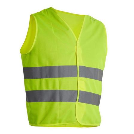 BTWIN - BABY  Junior Hi-Vis Cycling Gilet - EN1150 Yellow, Fluo Yellow
