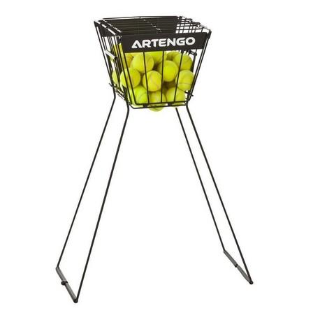 ARTENGO - Unique Size  Tennis Ball Basket - Black, Default