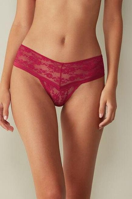 Intimissimi - Persia Red 80S The Flower Girl Brazilian Culotte Knickers, Women
