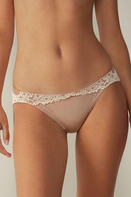 Intimissimi - Soft Beige/Ivory Pretty Flowers Knickers, Women