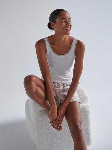 Reserved - Ivory Two Piece Viscose Pyjama Set, Women