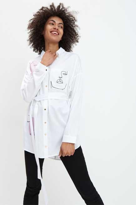 Mohito - White Viscose Shirt Eco Aware, Women