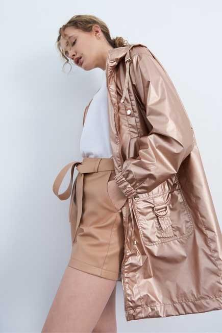 Mohito - Beige Faux Leather Shorts, Women