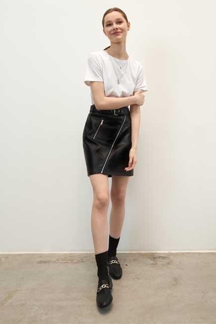 Mohito - Black Faux Leather Skirt, Women