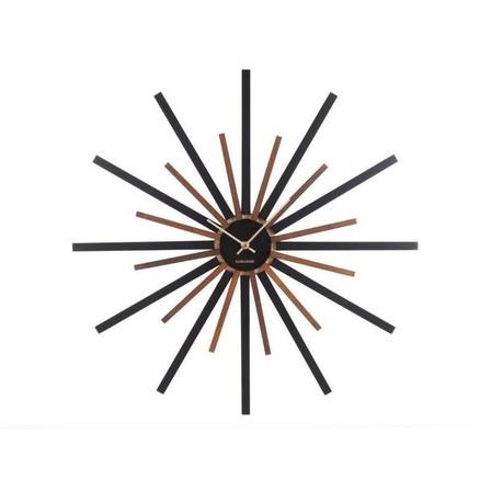 KARLSSON - Karlsson Wall Clock Diva Black W. Walnut Painted