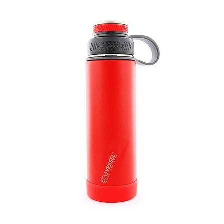 ECO VESSEL - Ecovessel Boulder Trimax Protective Bumper Jazz Red Water Bottle 590 ml