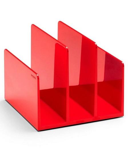 POPPIN INC - Poppin Inc Fin File Sorter Red