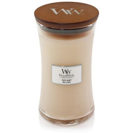 WOOD WICK - Woodwick Candle Hourglass White Honey [Large]