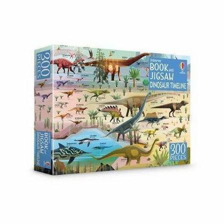 USBORNE PUBLISHING LTD UK - Dinosaur Timeline Book And Jigsaw