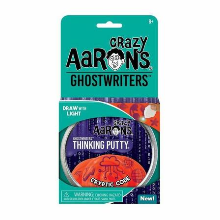 CRAZY AARON'S - Crazy Aaron's Thinking Putty Ghostwriters Cryptic Code 4 Inch Tin