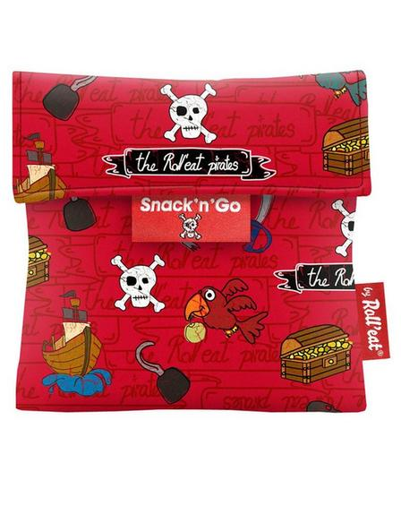 ROLL EAT - Roll'Eat Snack'n'Go Kids Pirates Red Lunch Kit