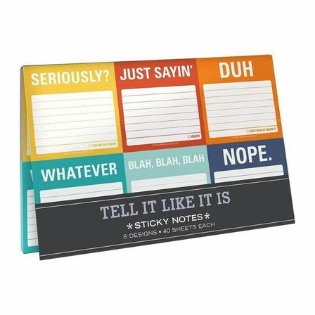 KNOCK KNOCK - Knock Knock Tell It Like It Is Sticky Note Packets