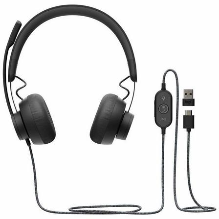 LOGITECH - Logitech Zone USB Wired Headset for Microsoft Teams Graphite