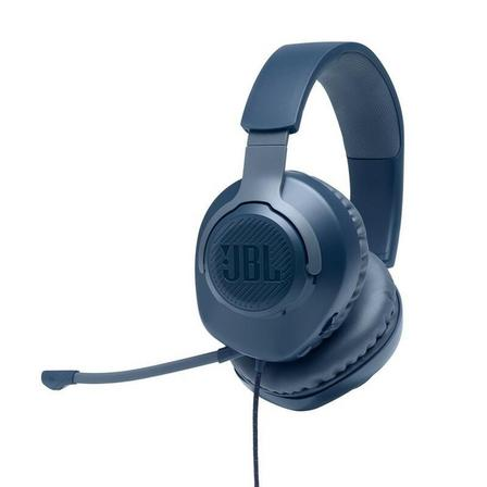 JBL - JBL Quantum 100 Wired Over-Ear Gaming Headset Blue