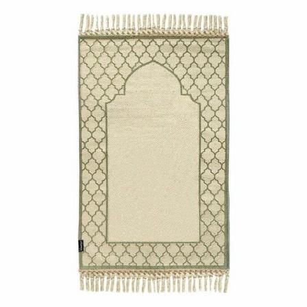 KHAMSA - Khamsa Oragnic Cotton Prayer Mat Akhdar Green (118 x 60 cm)
