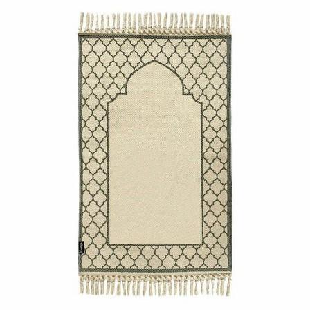 KHAMSA - Khamsa Organic Cotton Prayer Mat Ramadi Grey (118 x 60 cm)