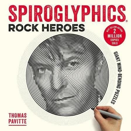 OCTOPUS UK - Spiroglyphics Rock Heroes Colour and reveal your musical heroes in these 20 mind-bending puzzles