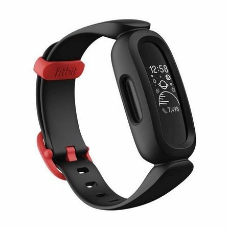 FITBIT - Fitbit Ace 3 Black/Red Kids Smartwatch