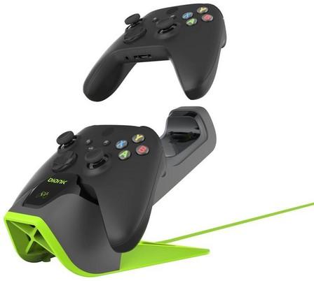 BIONIK - Bionik Power Stand for Xbox Series X Grey/Green