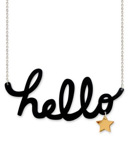 LITTLE MOOSE - Little Moose Chit Chat Hello Necklace
