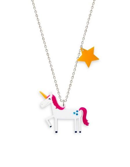 LITTLE MOOSE - Little Moose Space Unicorn Necklace Pendant
