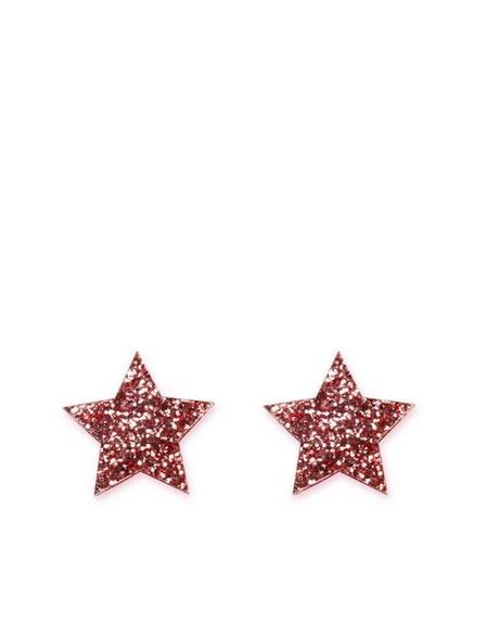 LITTLE MOOSE - Little Moose Space Unicorn Glitter Pink Star Stud Earrings