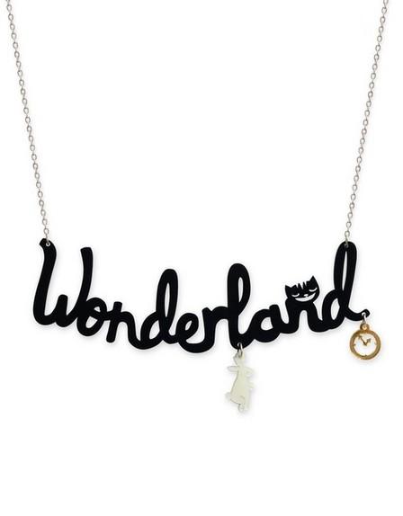 LITTLE MOOSE - Little Moose Alice In Wonderland Wonderland 'text' Necklace