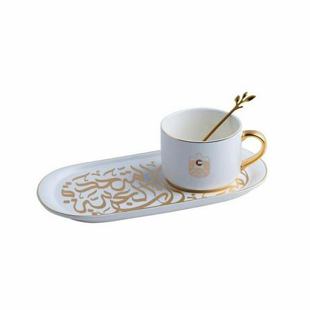 ROVATTI - Rovatti Pietra Alto Livello Mug With Ovale Plate White [Set of 3]