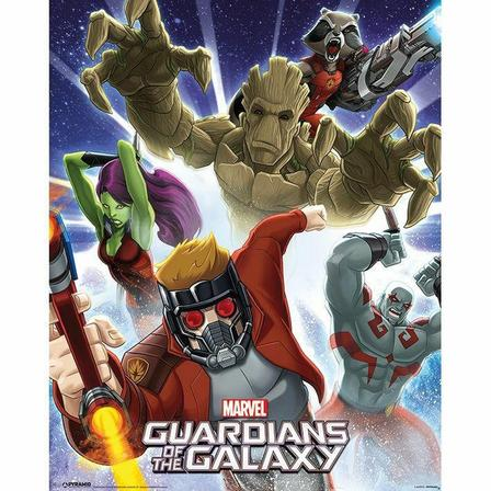 PYRAMID POSTERS - Pyramid Posters Marvel Guardians Of The Galaxy Burst Mini Poster (40 x 50 cm)