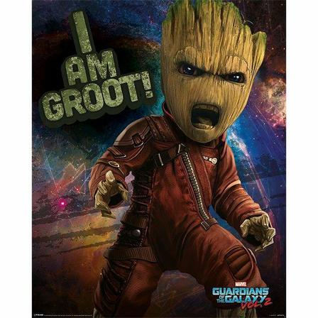 PYRAMID POSTERS - Pyramid Posters Marvel Guardians Of The Galaxy Vol 2 Angry Groot Mini Poster (40 x 50 cm)