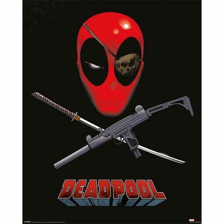 PYRAMID POSTERS - Pyramid Posters Marvel Deadpool Eye Patch Mini Poster (40 x 50 cm)