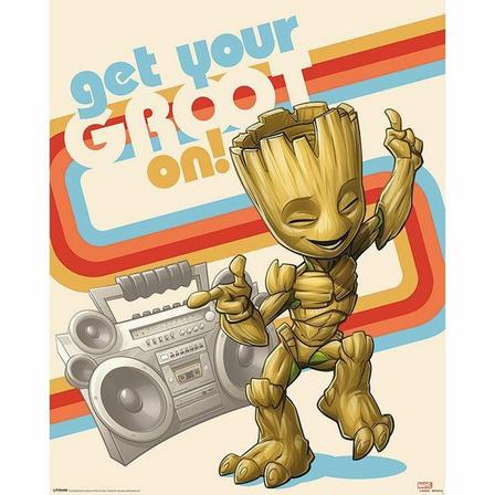 PYRAMID POSTERS - Pyramid Posters Marvel Guardians Of The Galaxy Vol 2 Get Your Groot On Mini Poster (40 x 50 cm)