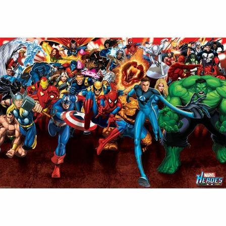 PYRAMID POSTERS - Pyramid Posters Marvel Heroes Attack Maxi Poster (61 x 91.5 cm)