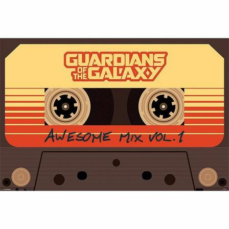 PYRAMID POSTERS - Pyramid Posters Marvel Guardians Of The Galaxy Awesome Mix Vol 1 Maxi Poster (61 x 91.5 cm)