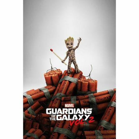 PYRAMID POSTERS - Pyramid Posters Marvel Guardians Of The Galaxy Vol. 2 Groot Dynamite Maxi Poster (61 x 91.5 cm)