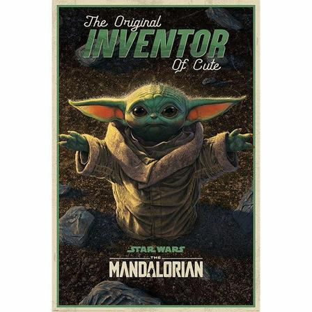 PYRAMID POSTERS - Pyramid Posters Star Wars The Mandalorian The Original Inventor Of Cute Maxi Poster (61 x 91.5 cm)