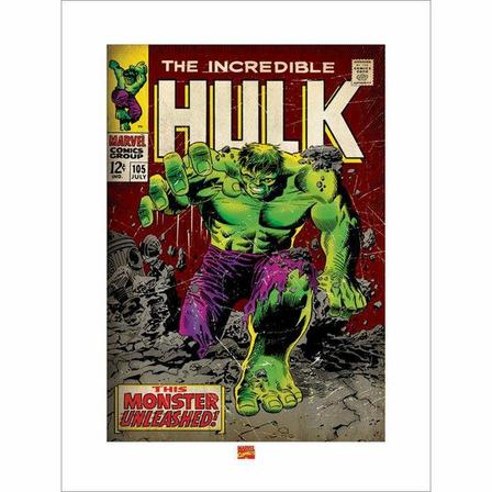 PYRAMID POSTERS - Pyramid Posters Marvel Incredible Hulk Monster Unleashed Art Print (60 x 80 cm)