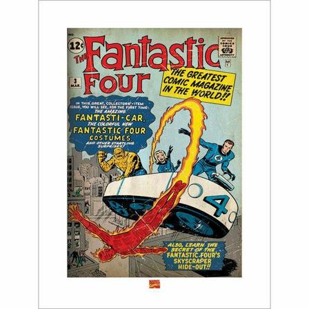 PYRAMID POSTERS - Pyramid Posters Marvel Fantastic Four Cover Art Print (60 x 80 cm)