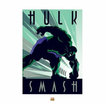 PYRAMID POSTERS - Pyramid Posters Marvel Deco Hulk Art Print (60 x 80 cm)