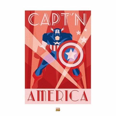 PYRAMID POSTERS - Pyramid Posters Marvel Deco Captain America Art Print (60 x 80 cm)