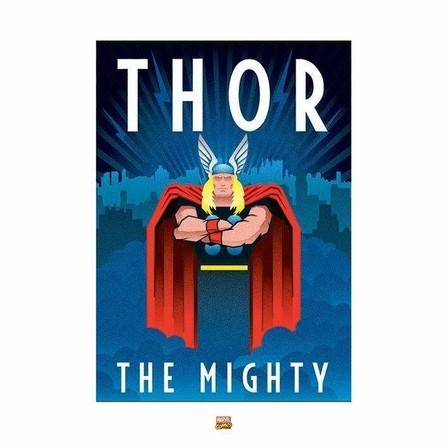 PYRAMID POSTERS - Pyramid Posters Marvel Deco Thor Art Print (60 x 80 cm)