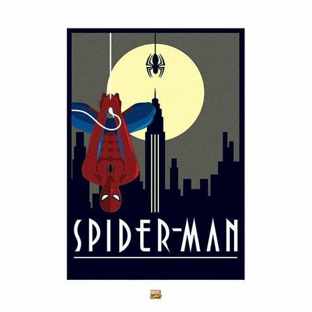 PYRAMID POSTERS - Pyramid Posters Marvel Deco Spider-Man Hanging Art Print (60 x 80 cm)