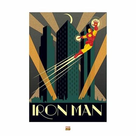 PYRAMID POSTERS - Pyramid Posters Marvel Deco Iron Man Art Print (60 x 80 cm)