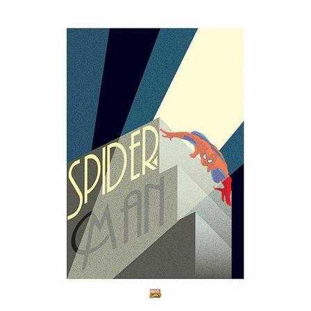 PYRAMID POSTERS - Pyramid Posters Marvel Deco Spider-Man Building Art Print (60 x 80 cm)