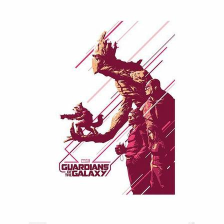 PYRAMID POSTERS - Pyramid Posters Marvel Guardians Of The Galaxy Stance Art Print (60 x 80 cm)