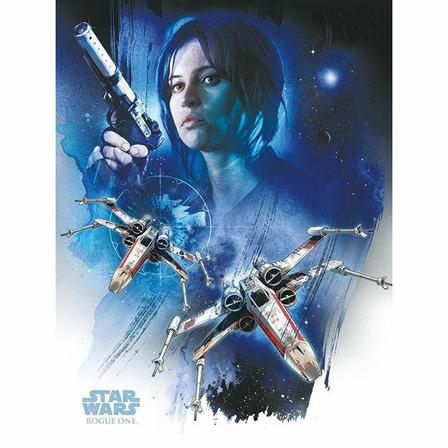 PYRAMID POSTERS - Pyramid Posters Star Wars Rogue One Jyn & X-Wings Canvas Print (60 x 80 cm)