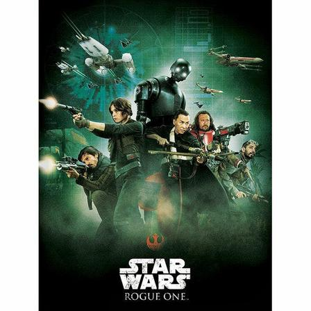 PYRAMID POSTERS - Pyramid Posters Star Wars Rogue One Attack Canvas Print (60 x 80 cm)