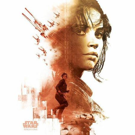 PYRAMID POSTERS - Pyramid Posters Star Wars Rogue One Jyn Red Canvas Print (60 x 80 cm)